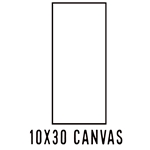 10 X 30 CANVAS - (24 Count, $2.48/pc)