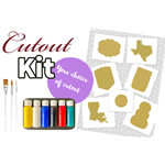 Virtual Wooden Cutout Painter Kit  - Ships free directly to your customer! ($26.50/pc includes shipping!)